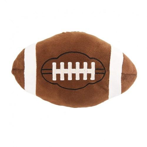 LIOOBO Peluche Forma Palla Rugby Sport Giocattolo Cuscino Regalo per Bambini Compleanno Ventilatore 12cm  Brown