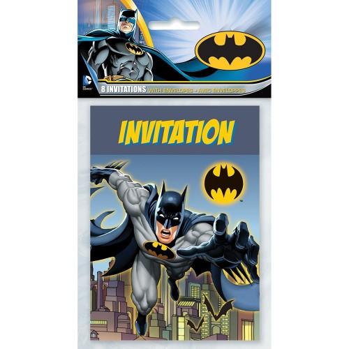 Inviti Batman, confezione da 8, per feste