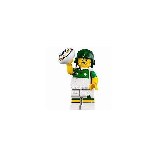 LEGO modellino giocatore rugby - football