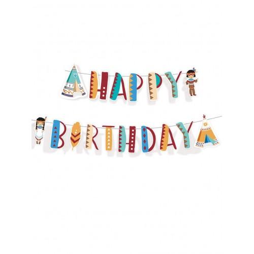 Ghirlanda tema indiani - Happy Birthday