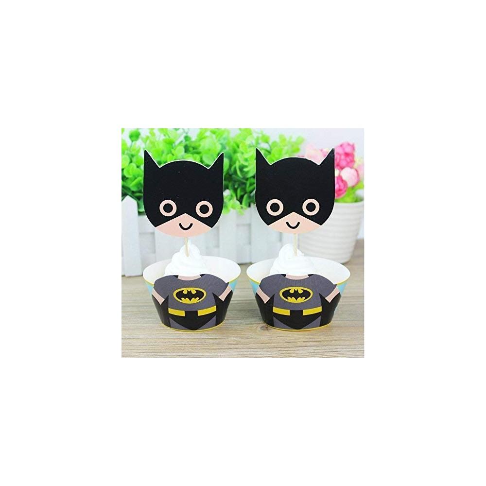 Topper dolci Batman, 12 accessori dell'uomo Pipistrello