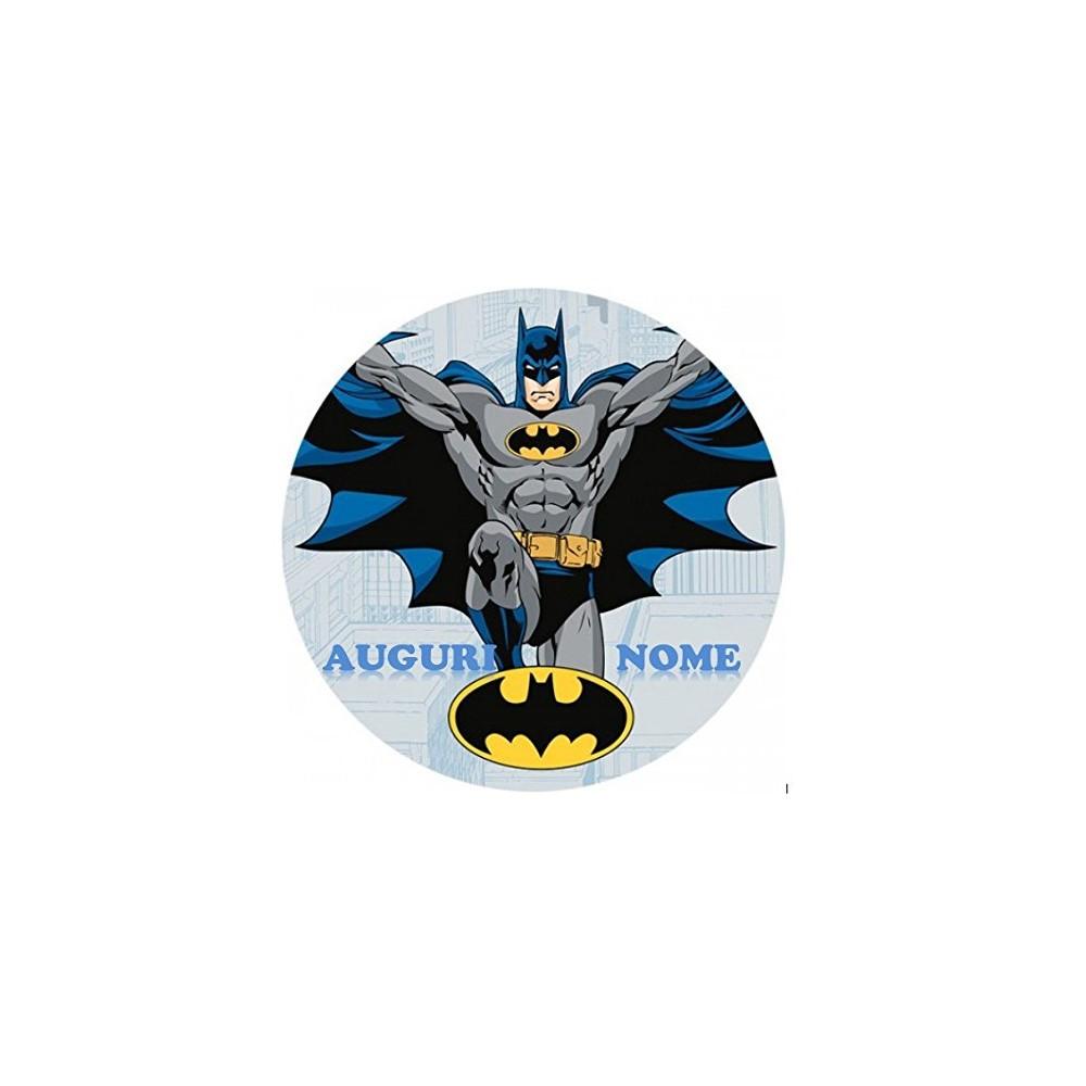 Cialda personalizzata Batman diametro 20 cm