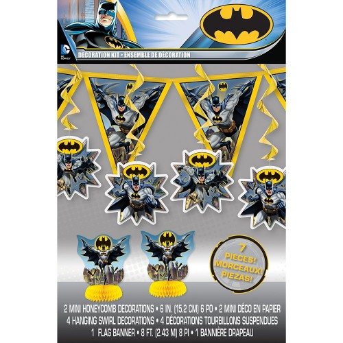 Set festa Batman, centrotavola, bandierine e festone
