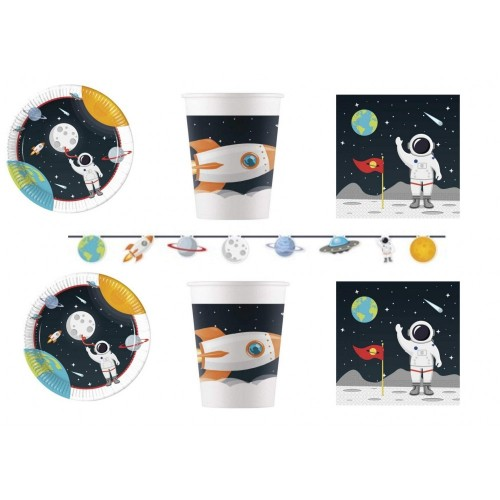 Kit per 32 persone tema astronauta - Nasa