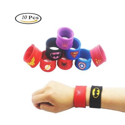Braccialetti Justice League, Batman, Flash, Wonder Woman, Superman