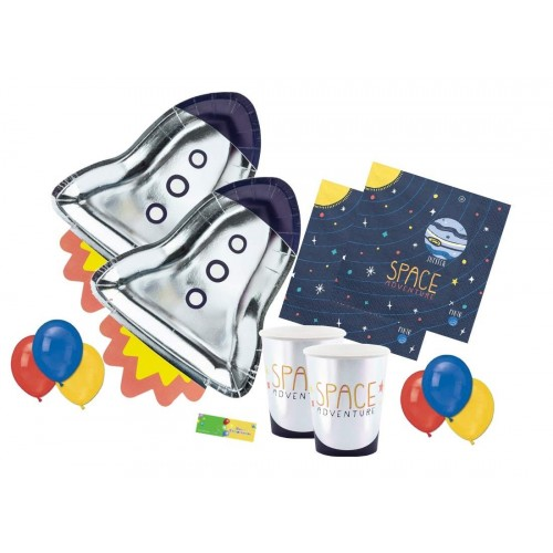 Kit per 6 persone tema Space Party