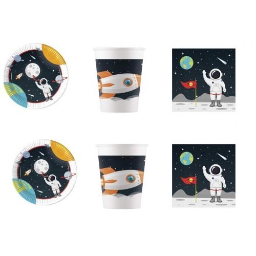 Kit per 16 persone tema Astronauta Nasa