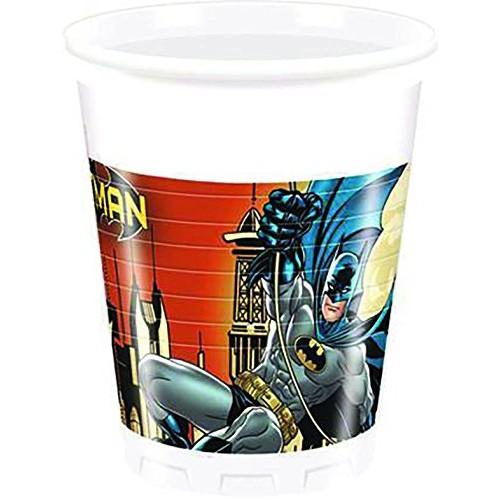 Bicchieri Uomo Pipistrello, 8 pz da 200 ml