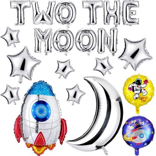 21 Palloncini assortiti tema Space Party