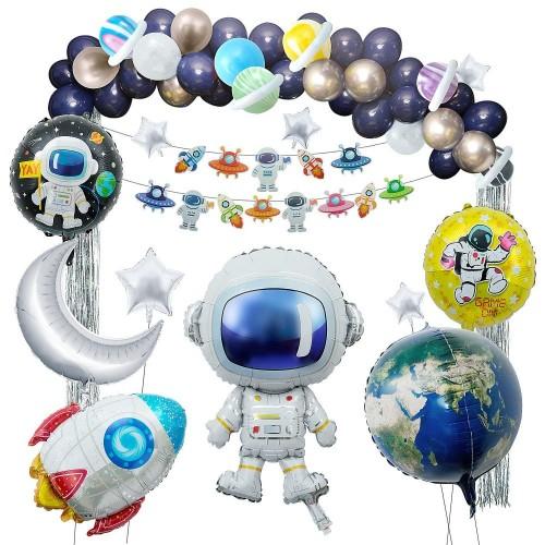 Set da 53 palloncini tema Astronauta - Space party