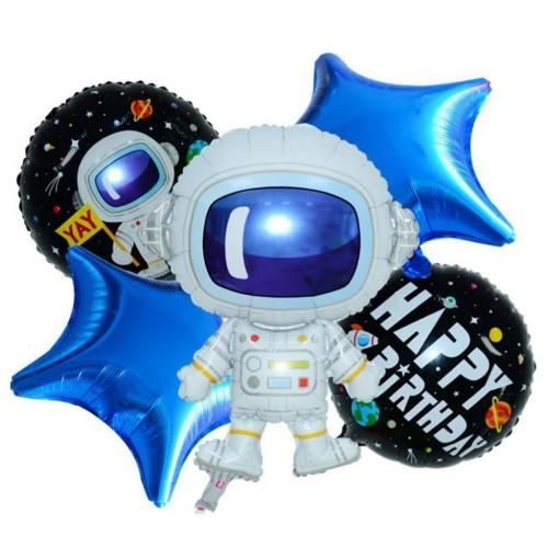 Composizione 5 palloncini Space Party - Astronauta