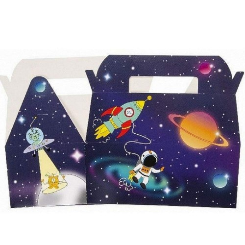 10 scatole regalo Space Party