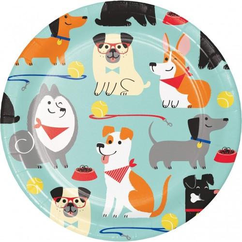 Piatti Dog Party dessert per feste, tema cagnolini