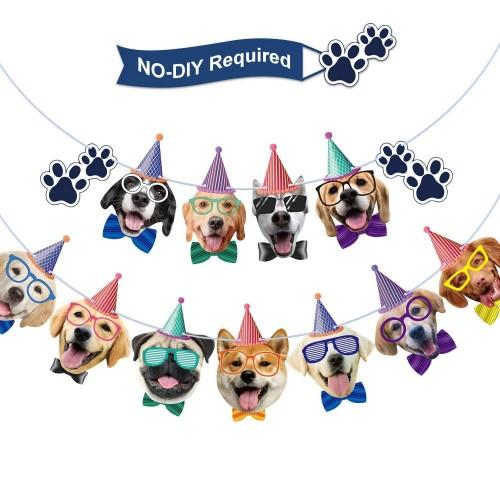 Festone Dog Party - faccia da cani