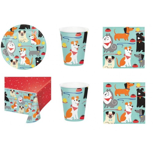Kit per 8 persone tema Dog Party