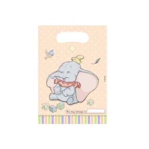 6 Sacchetti per feste motivo Dumbo