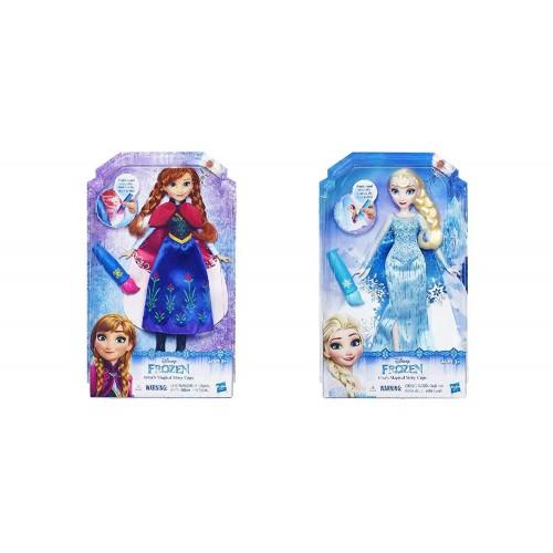 Bambola Elsa con mantello cambia colore