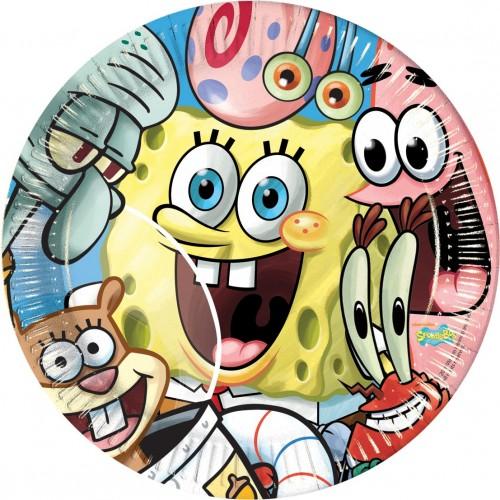 Piatti SpongeBob - 8 pz per feste a tema