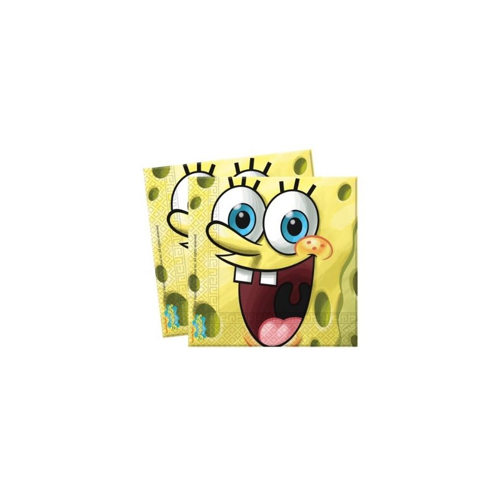 20 Tovaglioli SpongeBob da 33 x 33cm