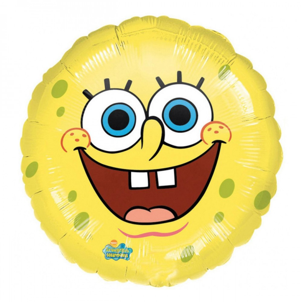 Foil SpongeBob smile 45 cm, per feste e party