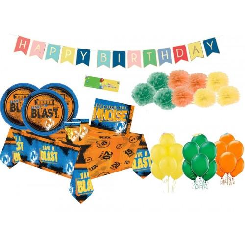 Set per 8 bambini - kit compleanno Nerf sparatutto