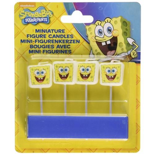 Candeline SpongeBob 7 x 2,2 cm, 4 pz