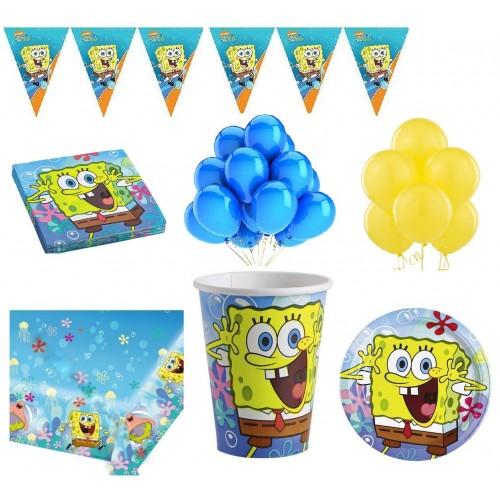 Kit 16 persone SpongeBob per feste a tema