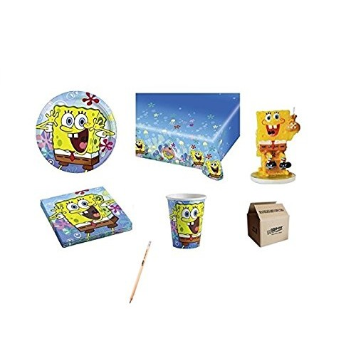 Kit 32 persone SpongeBob per feste di compleanno