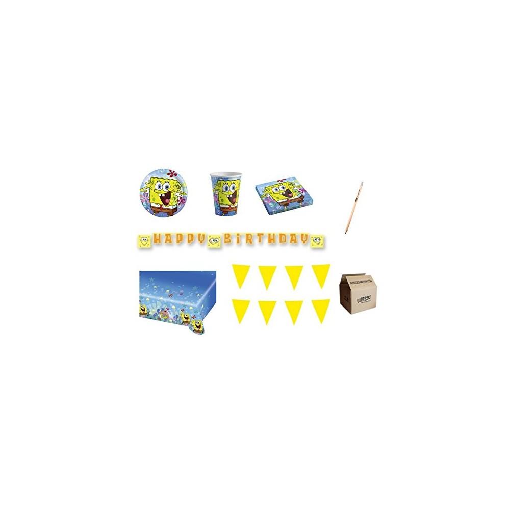 Kit 40 persone SpongeBob, coordinato per feste