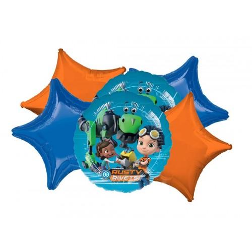 Set di palloncini tema Rusty Rivets