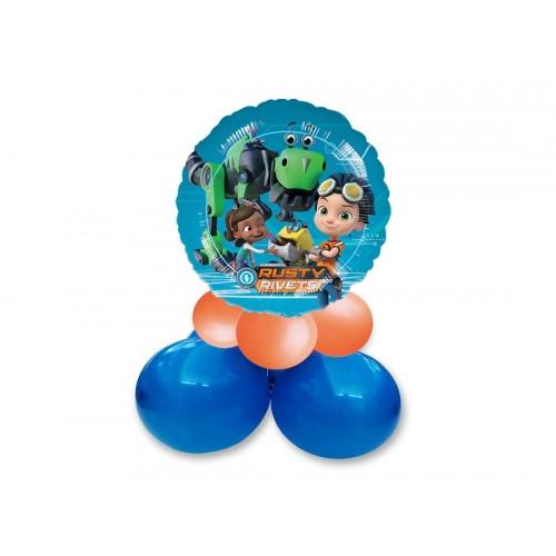 Centrotavola palloncini Rusty Rivets