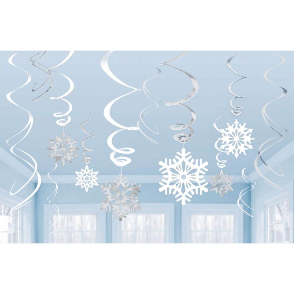 Festone Fiocchi di neve silver