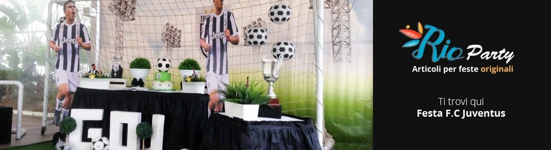 Festa tema F.C Juventus, decorazioni e addobbi originali