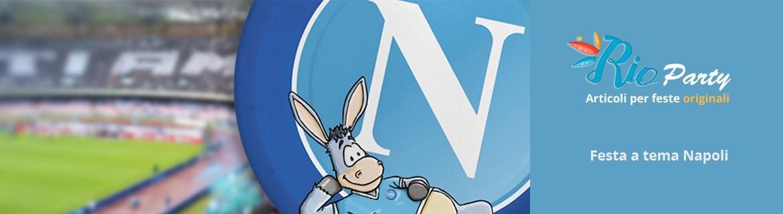 Festa tema S.S.C Napoli calcio, addobbi e allestimenti originali
