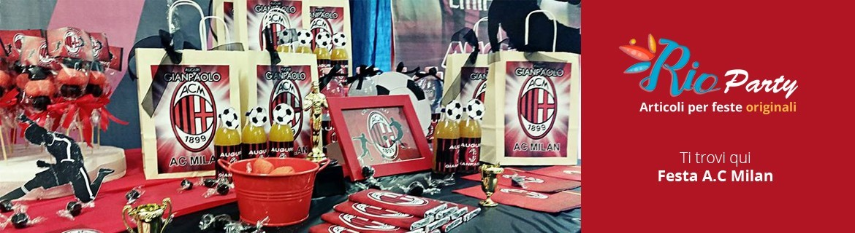 Festa A.C Milan, addobbi e decorazioni originali
