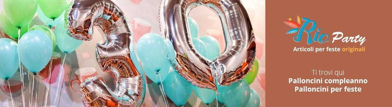 Palloncini compleanno, in lattice, a elio, numerici, lettere, economici