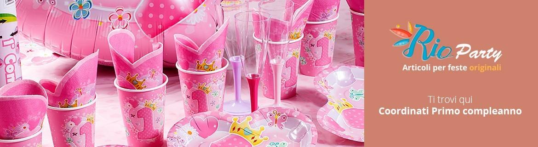 Coordinati Primo compleanno, bambino/a, stoviglie per feste