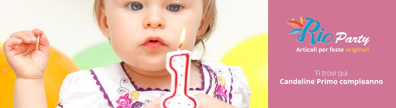 Candeline Primo compleanno, decorazioni per torte