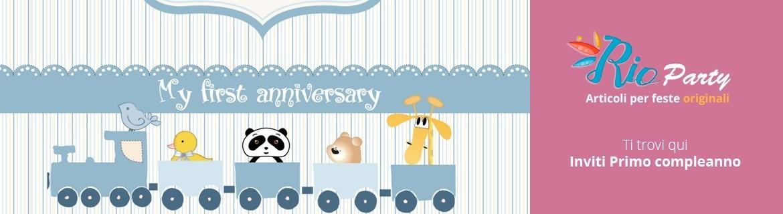 Inviti Primo compleanno, in cartoncino e digitali