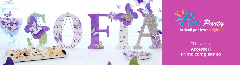 Accessori Primo compleanno, decorazioni per allestimenti