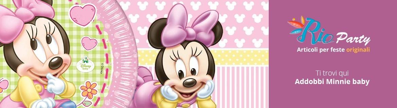 Minnie Baby per il Primo compleanno, addobbi e decorazioni per feste