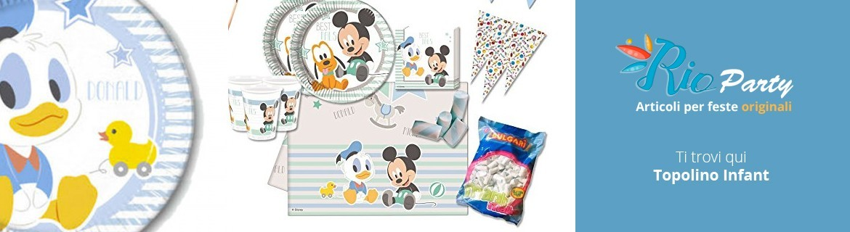 Topolino Infant Primo compleanno, coordinati tavola e accessori