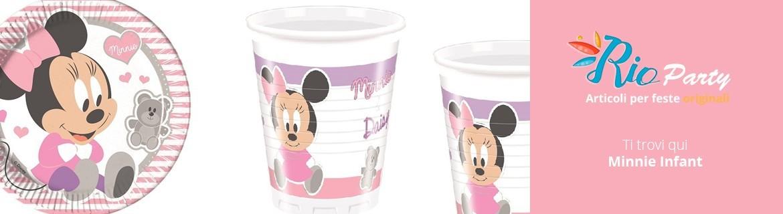Minnie Infant Primo compleanno, addobbi originali, accessori e decorazioni