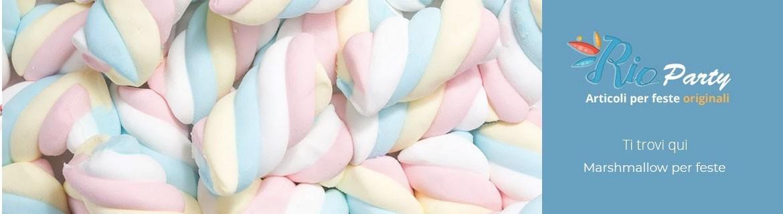 Marshmallow per feste, torte e spiedini di marshmallow, composizioni e caramelle