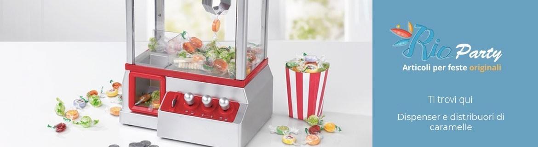 Dispenser caramelle, confezioni da banco, distributori in metallo