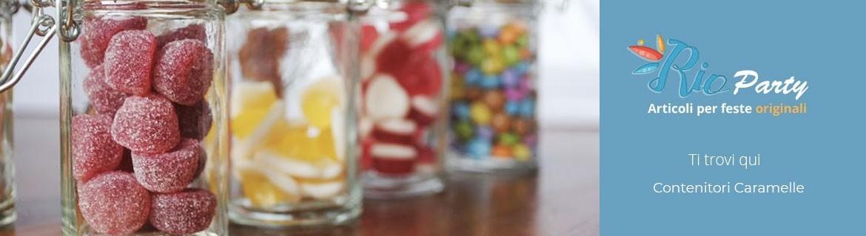 Contenitori per caramelle, porta caramelle, espositori in vetro