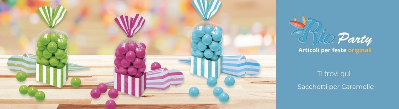 Sacchetti per caramelle, bustine in carta o PVC per feste