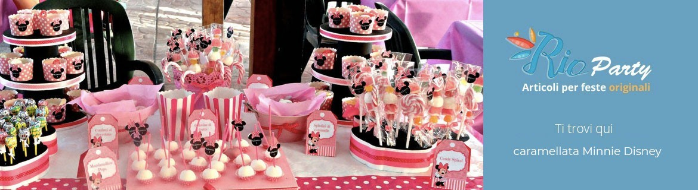 Caramellata Minnie Disney, accessori, addobbi, caramelle, contenitori