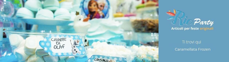 Caramellata Frozen, addobbi, accessori e caramelle golose