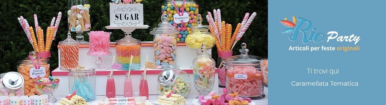 Caramellata tematica, accessori, caramelle, idee originali